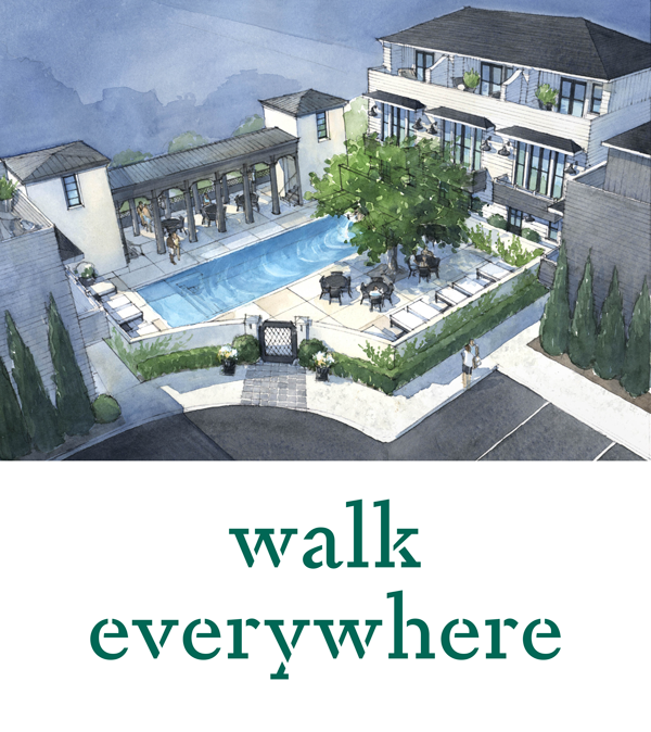 walk everywhere with pool